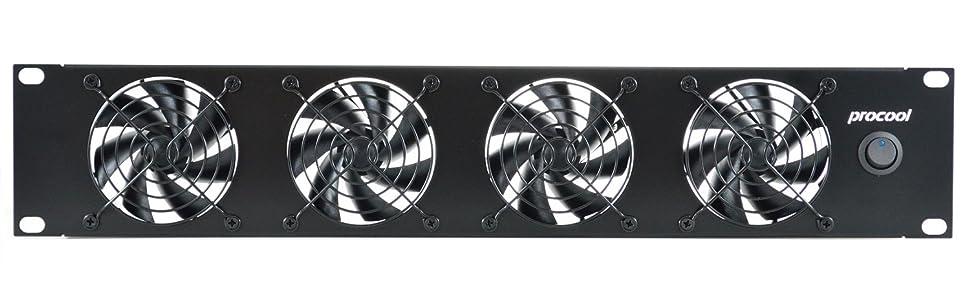 PROCOOL SX380-E 2U Silent Rack Mount Fan//Airflow = EXHAUST//Home Theater AV Cabinet Cooling Broadcast Network Server Recording Studio Rack Mount Fan Panel 19