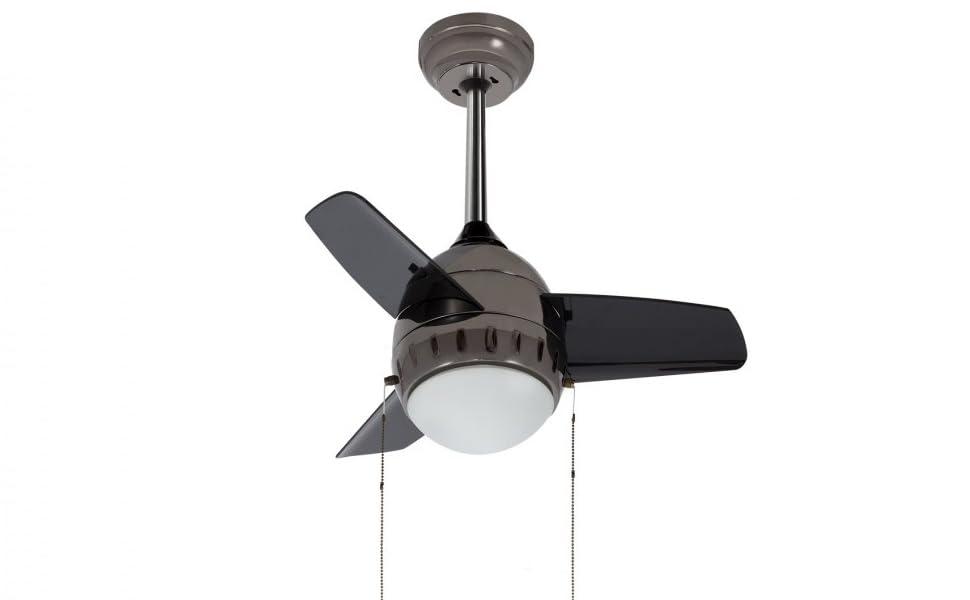 LEDKIA LIGHTING Ventilador de Techo LED Modern Negro 40W Blanco ...
