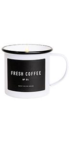 sweet water decor fresh coffee soy candle coffee mug gluten free lead free non-toxic cruelty free