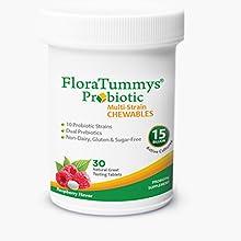 Womens-probiotic chewable-probiotic 15-billion-CFU chewable dairy-free gluten-free acidophilus vegan