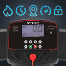 Multifunctional HD-LCD:Sytiry treadmill is equipped with exercise data monitoring system