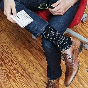 nerd genius math formulas calculus einstein logarithm calc school smart mens socks funny fun