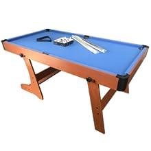 MASGAMES | Billar plegable Garona | práctica mesa de billar americano plegable | uso doméstico | Accesorios incluidos |: Amazon.es: Juguetes y juegos
