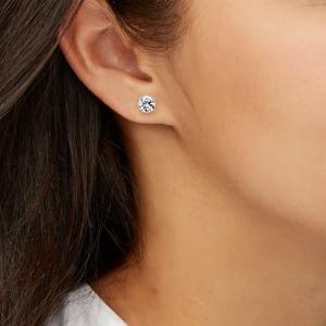 Diamond Stud Earring White Gold Model Image_300x300