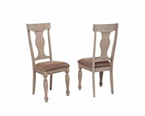 two chairs upholstered