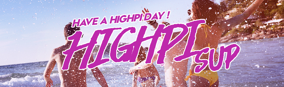HIGHPI PINK INFLATABLE STAND UP PADDLE BOARD