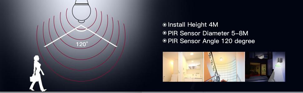 Bombillas LED E27 Con Sensor de Movimiento