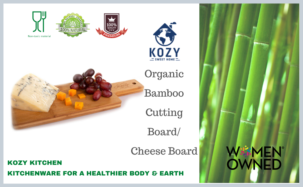 Kozy Kitchen bamboo wooden organic cheese plate cutting board serving platter board charcuterie