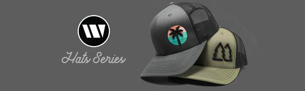 WUE hats logo adm trucker hats