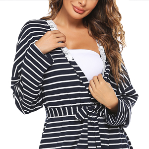Long Sleeve Sleepwear Breastfeeding