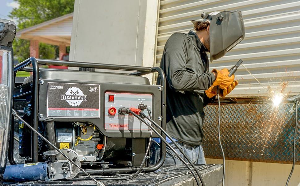 welder generator welding engine driven miller lincoln mma inverter watt wheel kit rod amp amperage