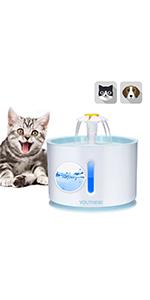2.4L Pet Fountain Cat Fountain