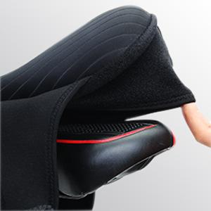 Funda de gel asiento de bicicleta,Mantilla de bicicleta estable y transpirable con funda impermeable