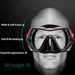 Snorkeling Dive Glasses Free Diving Tempered Glass Goggles