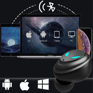 TWS Earphones with Charging Case for iPhone Android Phone Computer