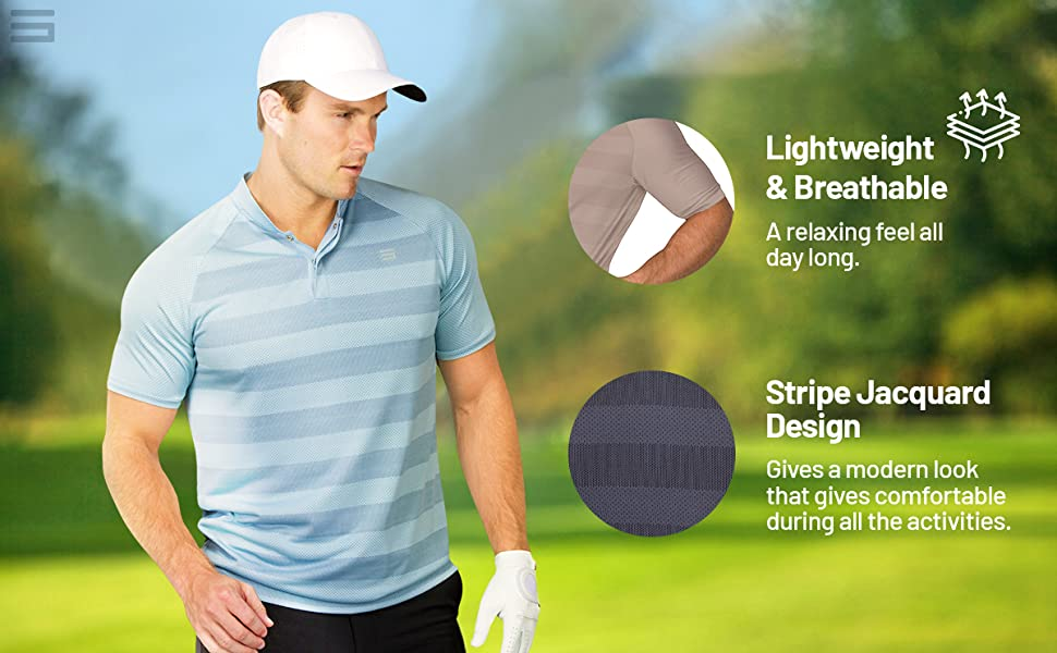 Lightweight and breathable with ventilation holes. Striped jacquard design.