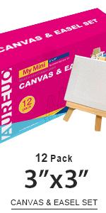 3x3, Canvas amp; easel set