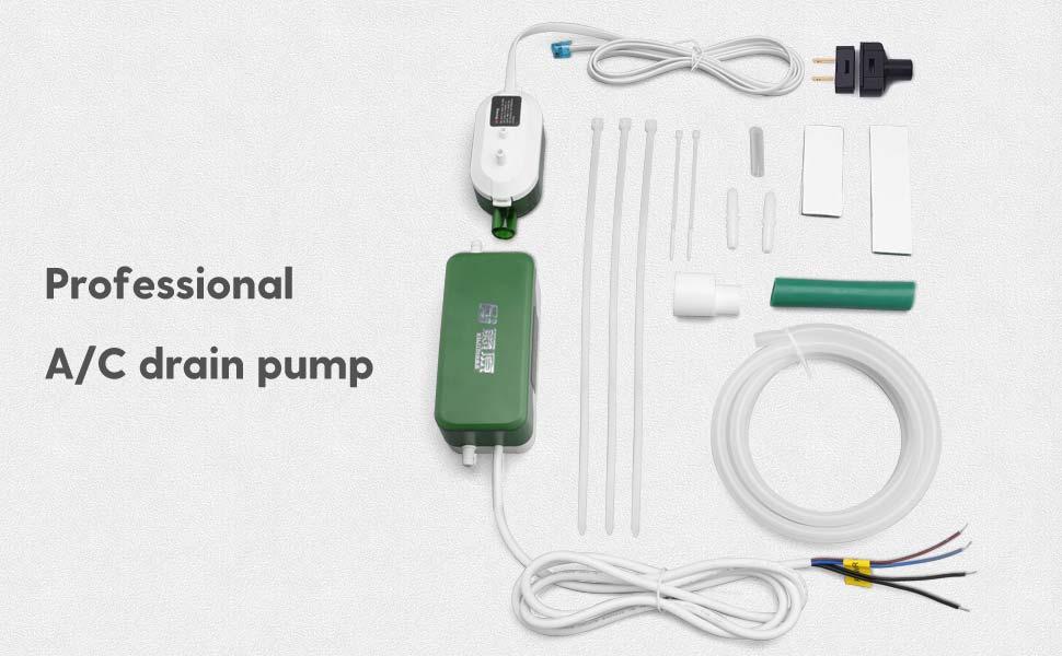 Fujiwara Condensate Pump Mini Split Automatic Condensation Drain Removal Quiet Pump For Hvac Air Conditioner Dehumidifier Furnance Ice Maker Suitable For A C 1 3hp 2200w Fuj 24s Amazon Com