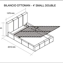 Ottoman Storage Small Double Bed