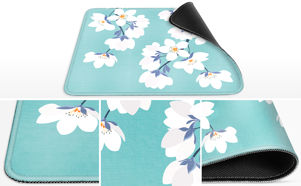 Smooth Floral Mouse Pad