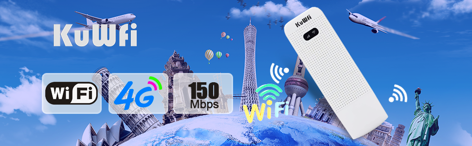 KuWFi 4G WiFi Modem LTE Mobile Hotspot