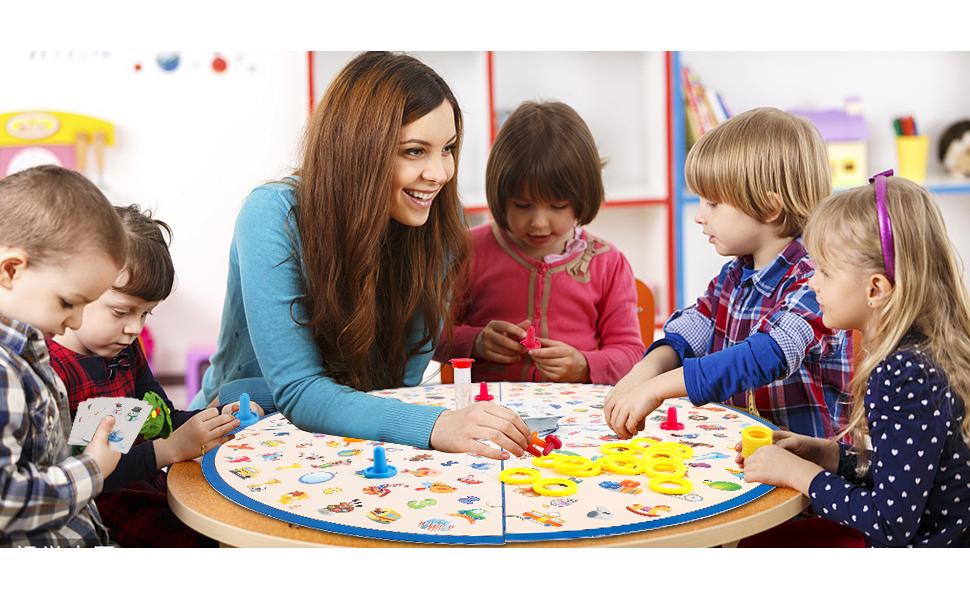 Juego de Mesa Familiar para niños, Juego de Cartas Little Detective, Juego de combinación Stem, Juguetes educativos para niños 3,4,5,6,7 8 años de Regalo para niños y niñas y Adultos: Amazon.es: Juguetes