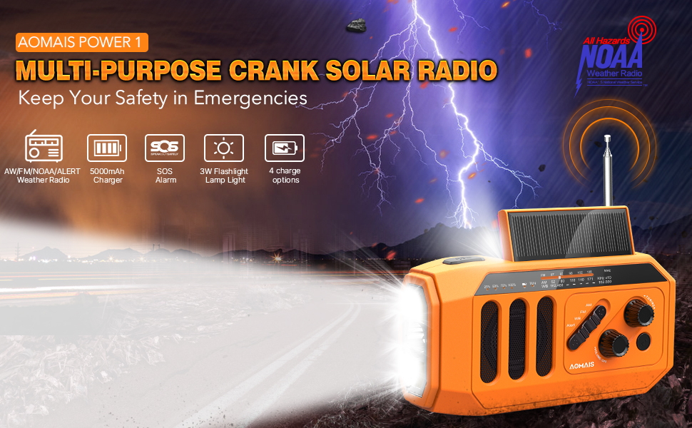 emergency crank radio solar emergency radio emergency weather radio emergency flashlight radio