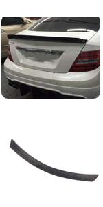 Benz C Class W204 Coupe C63 AMG C180 C200 C250 C300 2008-2014 Carbon Fiber Rear Trunk Lip Spoiler