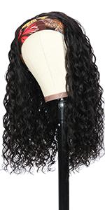 water wave headband wig