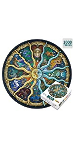 Round Jigsaw Puzzle 1000 Pieces