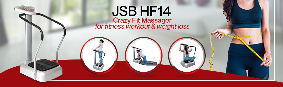 jsb hf14 crazy fit massager for fitness workout and weight loss