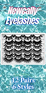12 pairs eyelashes