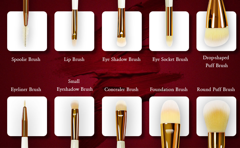 makeup set brushes