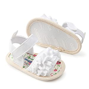 Baby Girls Boys Sparkly Bowknot Sandals Premium Soft Anti-Slip Rubber Sole Infant
