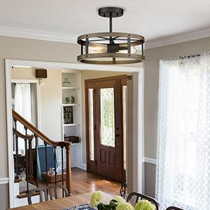 Semi Flush Mount Ceiling Light for Dining Room