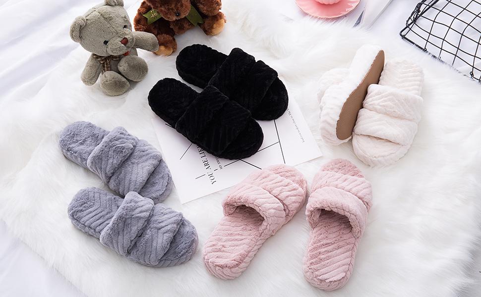 womens slippers memory foam