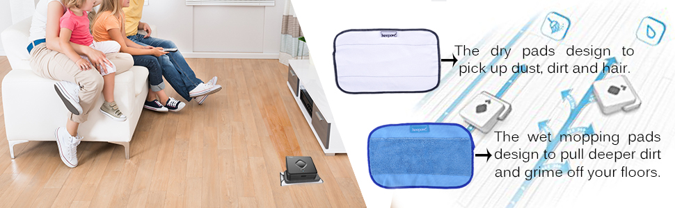 Microfiber Mopping Cloths 5 Wet + 5 Dry for iRobot Braava 380 380t 320 Mint 4200 5200 Vacuum Cleaner