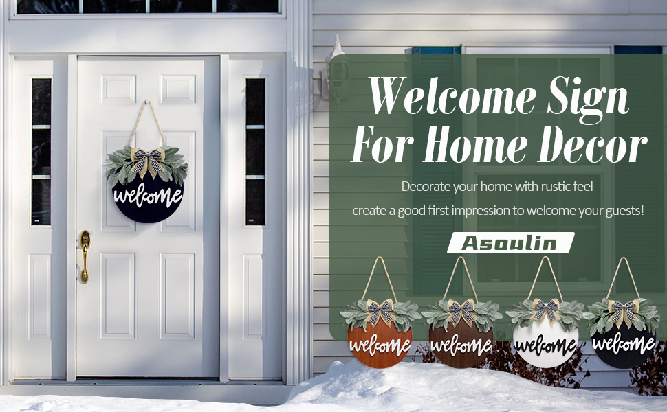 Welcome Wreath Sign for Front door