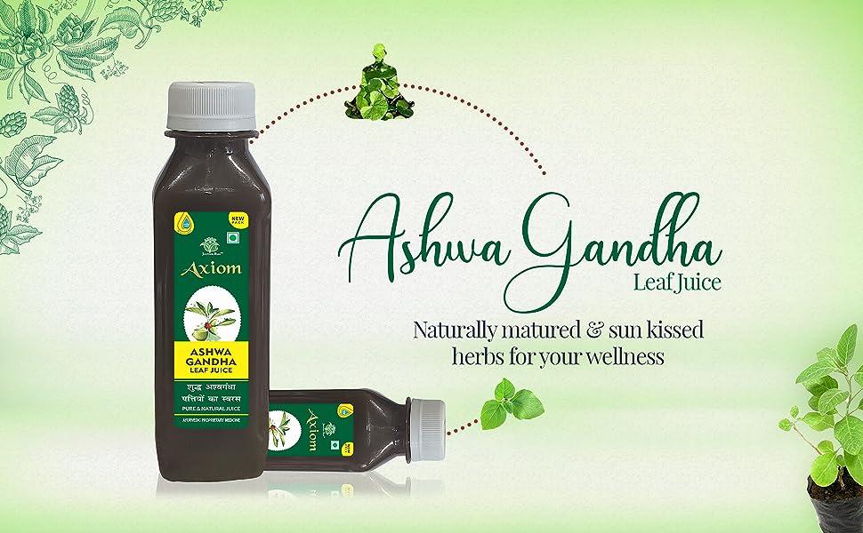 ashwagandha leaf juice fat reducer axiom aswagandha leaf juice for immunity booster best ayurvedoc