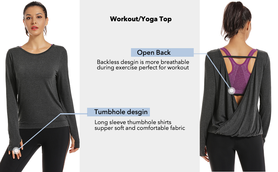 Muzniuer long sleeve yoga tops