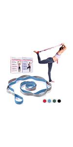 Yoga stretching flexibility strap