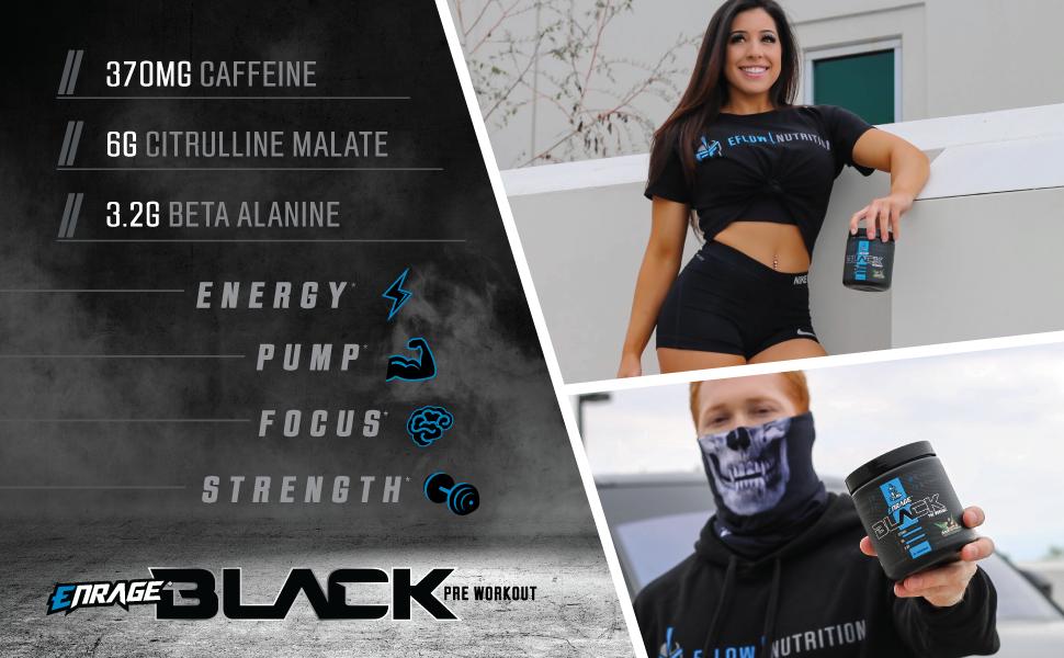 Enrage,Black,Energy,Pump,Focus,Strength,Preworkout