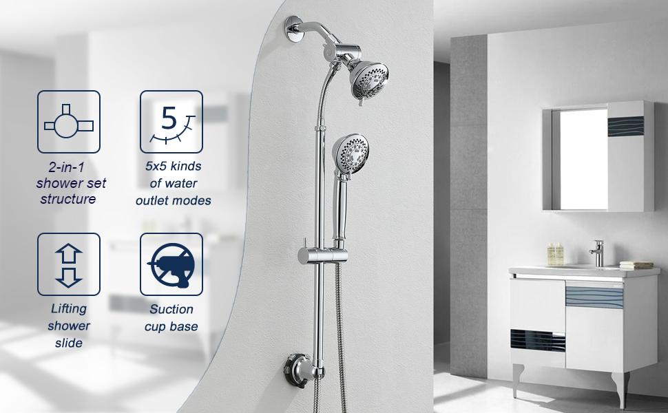 Shower System Chrome Shower set