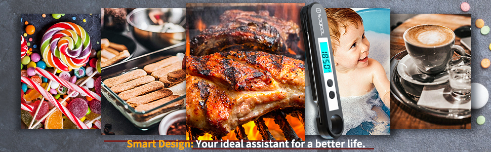 candy, food, meat thermometer