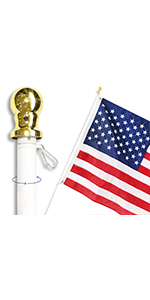 Anley 6 Feet Tangle-free Spinning Flagpole