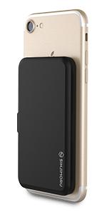 プラスチック カード入れ カードホルダー カードポーチ カードポケット カードケース 背面 スマホスタンド ブラック Card holder card case card slot iPhone