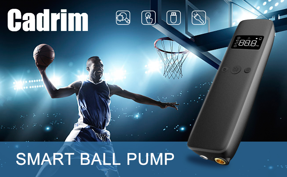 cadrim Smart Ball Pump - Automatic, Electric, Hand held Pump to inflate and Deflate Sports Balls