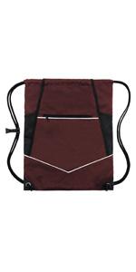burgundry wet drawstring bag