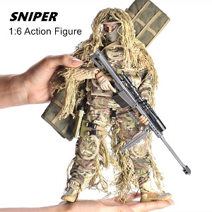 Desert Sniper Highly Detail Special Forces 12inch Action Figure SWAT Team YEIBOBO