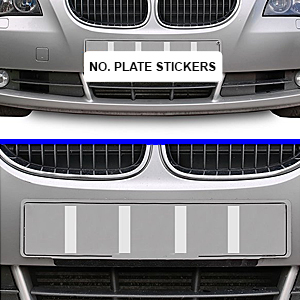 Hyfive Number Plate Sticky Pads Double Sided Foam Pad Car Registration License Plate Stickers Fixing 6 Pack